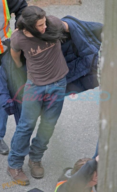 Taylor Lautner sur le tournage