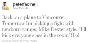 Peter Facinelli Twitter